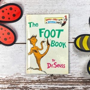 """Dr. Seuss Vintage 1968 Hardcover """"The Foot Book"""""""